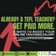 tefl teacher salary increase