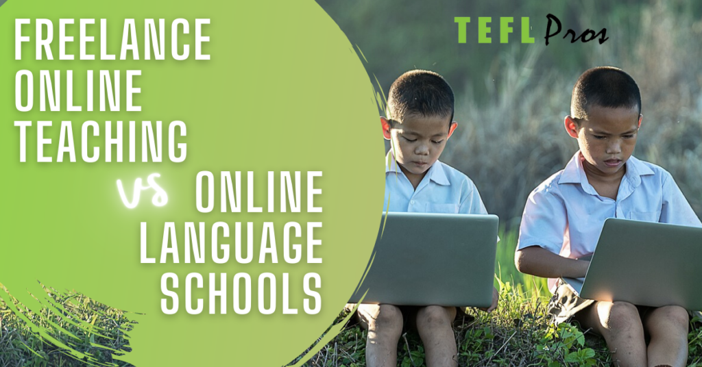 freelance online teaching vs online language businesses